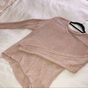 Light blush colored sweater